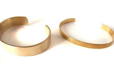 真鍮ブレスレットカフ 0.5インチ幅と0.25インチ幅