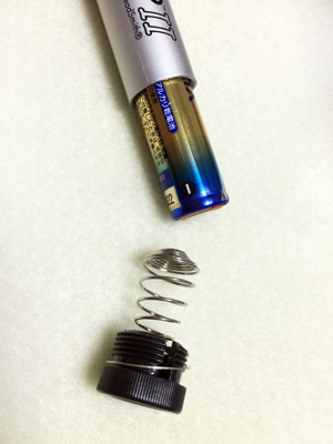 スレッドザップⅡ電池の入れ方